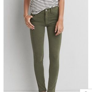 American eagle green jeggings